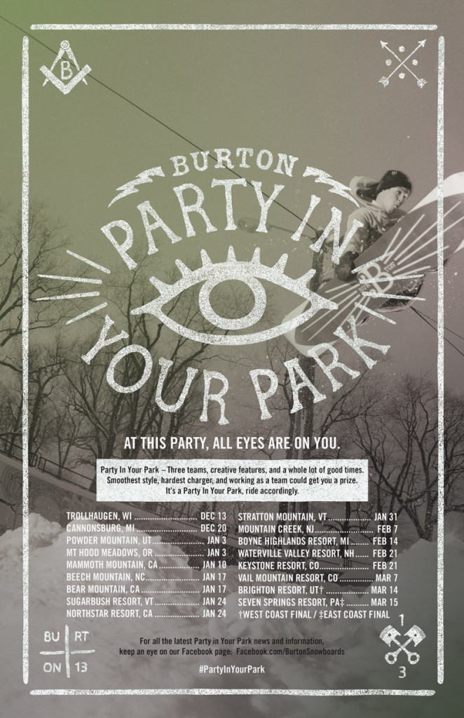 2015-Burton Party In Your Park-Poster
