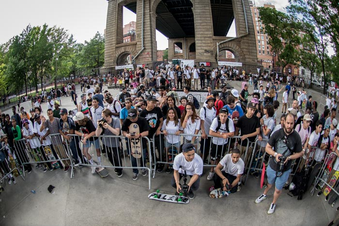 Waiting to see the winner of the longest ollie contest