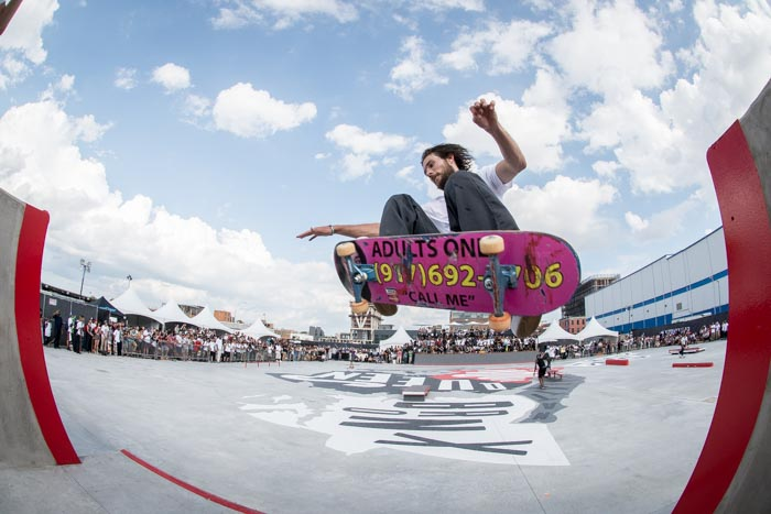 Alex Olsen - FS ollie during the Nike SB demo