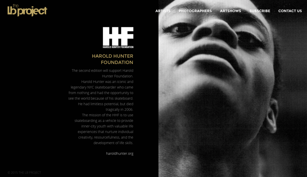 We support Harold Hunter Foundation